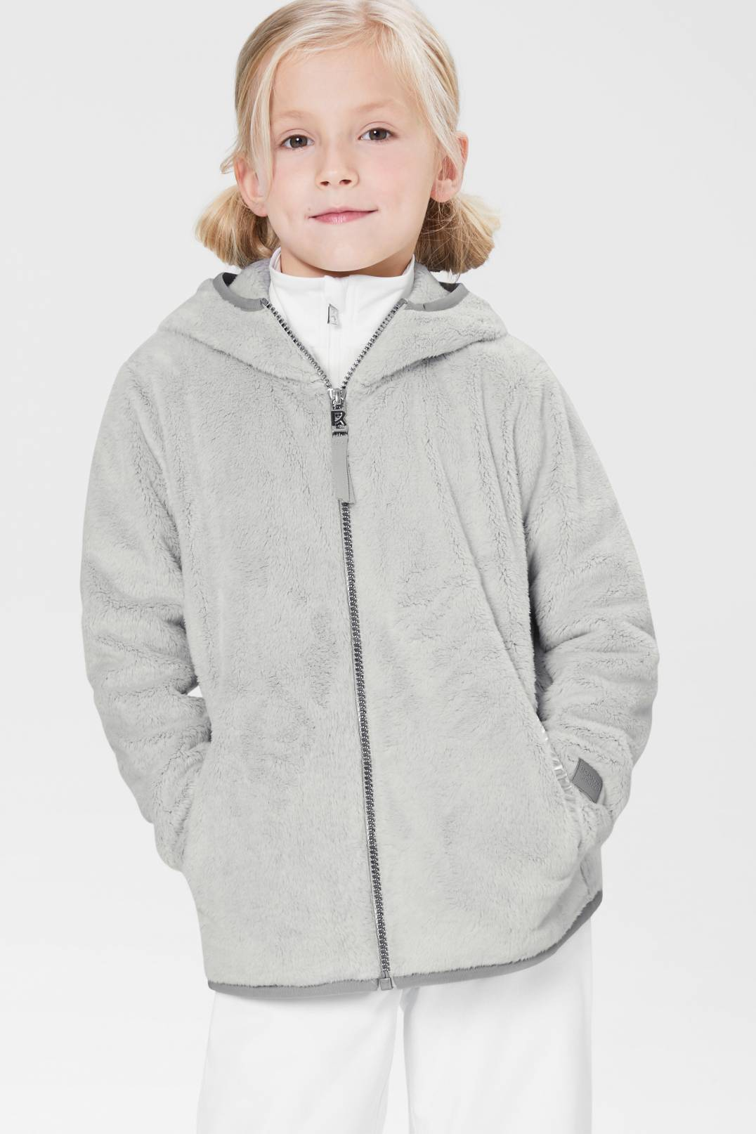 unique design new design new arrive Bogner Fire + Ice Kids Ilka fleece jacket in Light grey for Girls ...